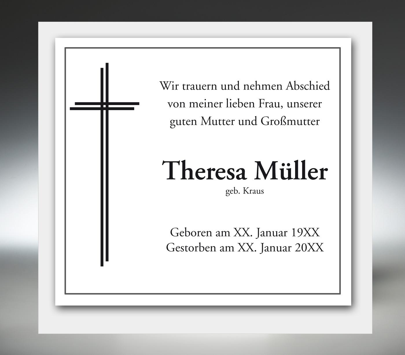 Traueranzeige online ver ffentlichen bei memento trauerkarten for Ver memento online